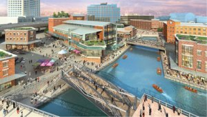 Development of Harbor Center and canals  courtesy of WKBW.